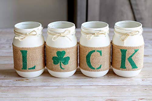 (St.Patrick's Day Decor - Irish Home Decorations Luck Decorative Mason)