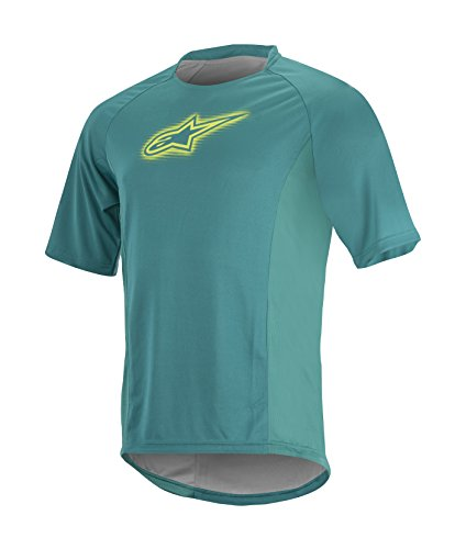 Alpinestars Men's Rover Short Sleeve Jersey, Teal/Green/Lime, X-Large