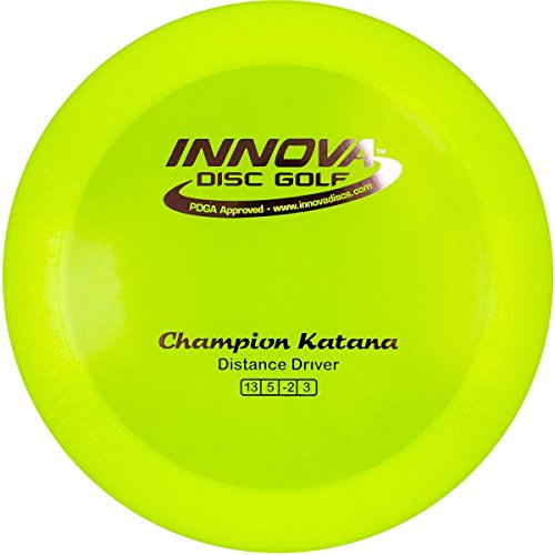 (INNOVA Champion Katana Distance Driver Golf DISC Orange 170-172G)