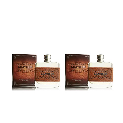 Leather Cologne 2 PACK by Tru Fragrance and Beauty - Fragrance Spray for Men - Masculine, Woody and Earthy - Cedar Wood, Sun-worn Leather - 2 x 3.4 oz from Tru Fragrance & Beauty