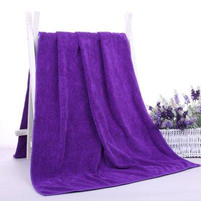 Salón de belleza toallas hotel sudor humeante hombres y mujeres adultos, un paño suave y absorbente toalla grande Pecho sola, Púrpura: Amazon.es: Hogar