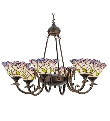Meyda Tiffany 27398 Daffodil Bell 6 Light Chandelier, 33