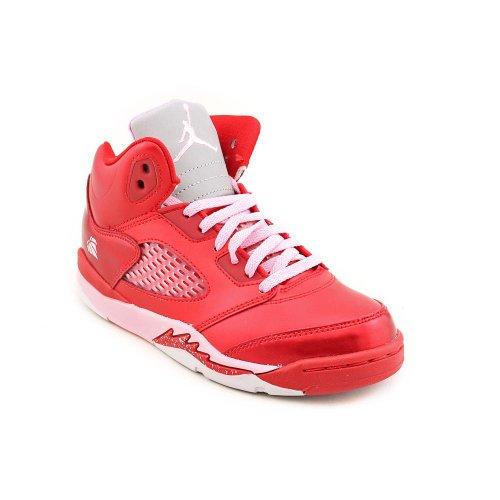 Jordan 5 Retro (PS) Youth Girls Size 2 Red Basketball Shoes UK 1.5 EU 33.5 by Jordan