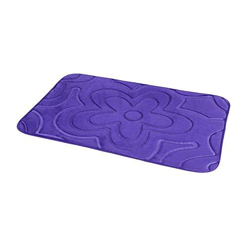 Carpets bedroom door mats kitchen and bathroom water-absorbing mat at the door -4060cm Flowers purple by ZYZX