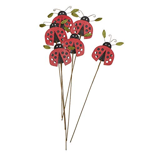 (Factory Direct Craft Whimsical Ladybug Floral Picks | Package of 6)
