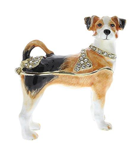 Jeweled Enamel Dog Box - 5