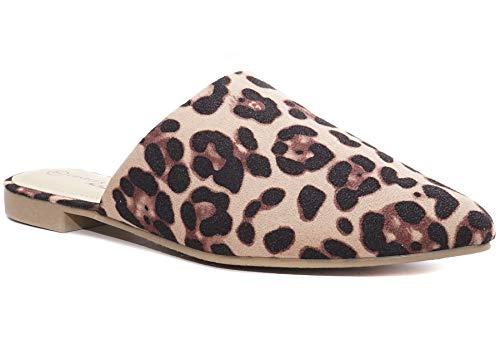 Charles Albert Women's Low Slip On Mule Comfortable Slides (10 M US, Leopard)