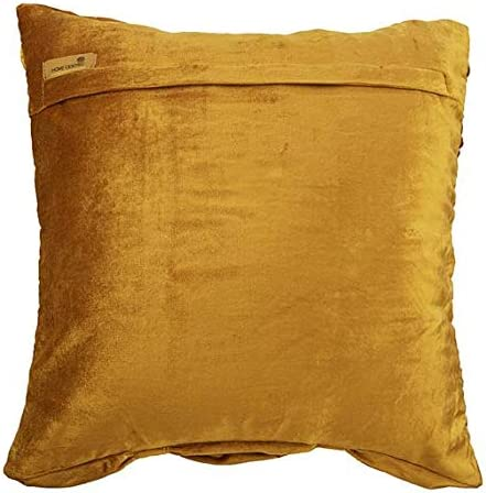 The HomeCentric Decorative Pillow Cover, Couch Sofa, Bed Pillow Cover, 14×14 inch 35×35 cm Gold Velvet Ruched Textured Pillow Cover, Gold Pillow Cover Solid – Rich Golden Beauty