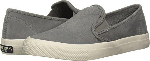 Sperry Women's Seaside Washable Leather Sneaker, Grey, 7.5 M US