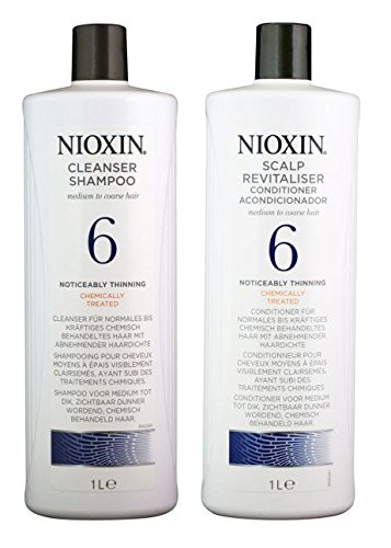 Nioxin System 6 Noticeably Thinning Hair Cleanser & Scalp Therapy Conditioner Duo Set