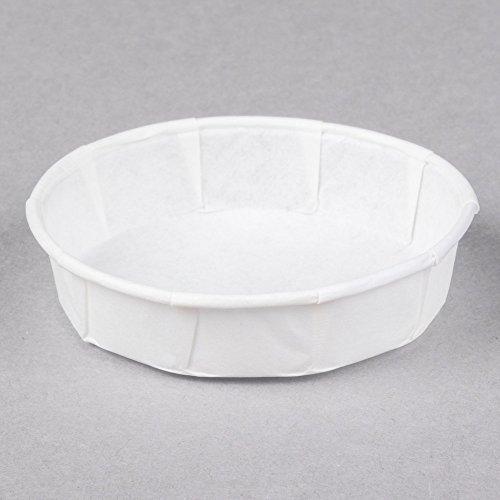 Genpak F100S 1 oz. Squat Harvest Paper Souffle / Portion Cup - 250/Pack