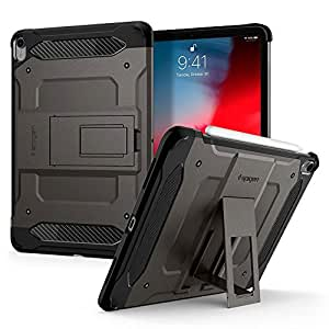 Spigen Apple iPad Pro 11 inch Tough Armor TECH kickstand cover/case - Gunmetal - Full Cover