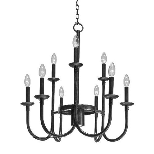 Kalco Lighting 2719RM Up Chandeliers with Seeded Glass Sh...