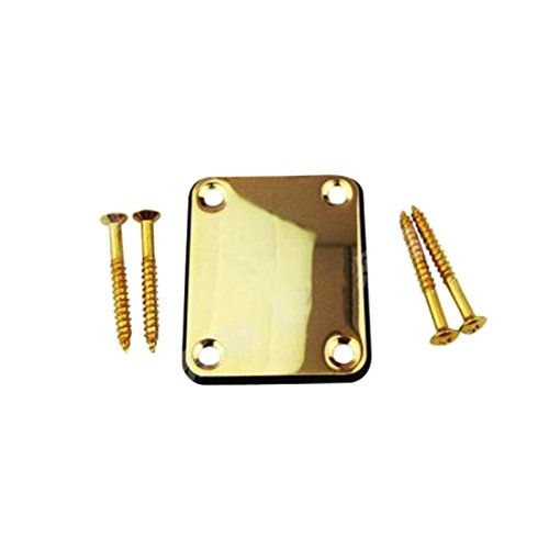 Neck Joint Plates Guitar Mounting Back Plate?(Gold) (Neck Mounting Plate)