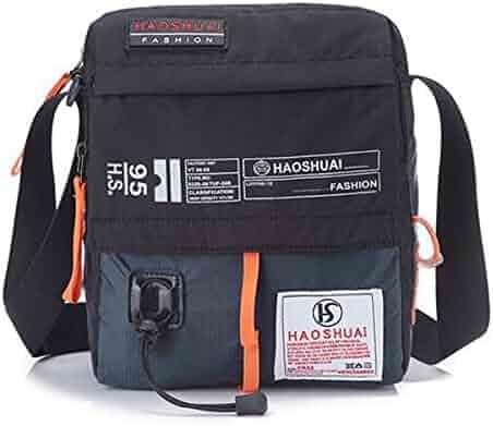 55dc0b8bc7b JAKAGO Waterproof Messenger Bag Shoulder Crossbody Bag Mobile Phone Pouch  Passport Holder Mens Purse Bag 10.1