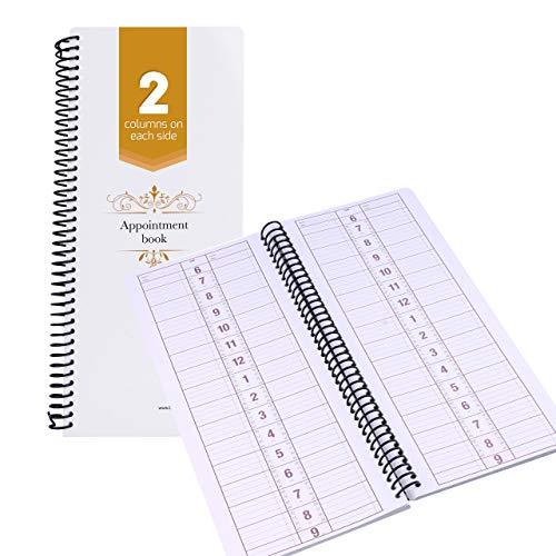 Appointment Book Undated Schedule Reservation - 2 Column 200 Page Appt Book Organizer with Pen Holder - Hourly Weekly Planner Daily Scheduler for Salon Hairdresser Restaurant Spa Stylist (2 Columns)