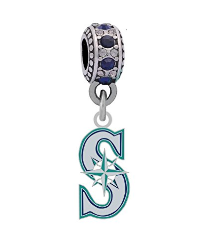 (Final Touch Gifts Seattle Mariners Charm Fits European Style Large Hole Bead Bracelets)