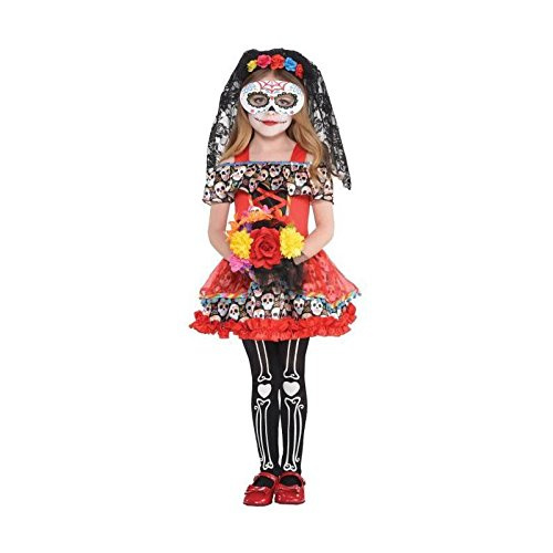 Amscan Sugar Skull Senorita Child Costume - Large]()