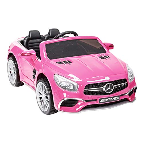 Lowest Prices! Uenjoy 12V Ride On Car Licensed Mercedes-Benz SL65 AMG Roadster Electric Cars for Kids w/Kiddie Ride Fun & Remote Control RC & LED Lights & Spring Suspension & Safety Lock Pink