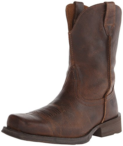 (Ariat Men's Rambler Wide Square Toe Western Cowboy Boot, Wicker, 10.5 2E US)