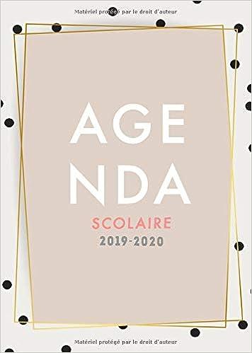 Agenda Scolaire 2019/2020: Agenda scolaire hebdomadaire et ...