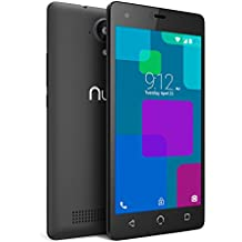 """NUU Mobile A3L 5.0"""" LTE Android 6.0 Marshmallow Smartphone, Black"""