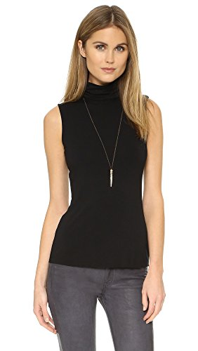 Bailey 44 Women's Tippi Sleeveless Turtleneck Top, Black, Medium