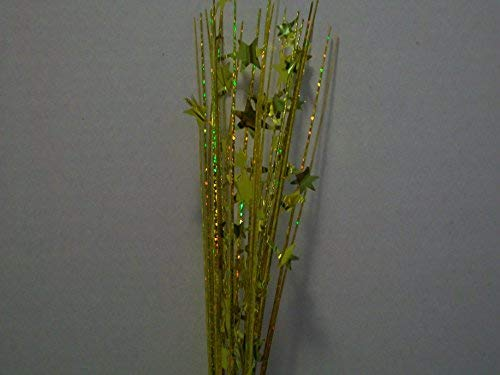 Holographic Onion Grass Metallic Star Spray Picks 12 Pcs - GOLD