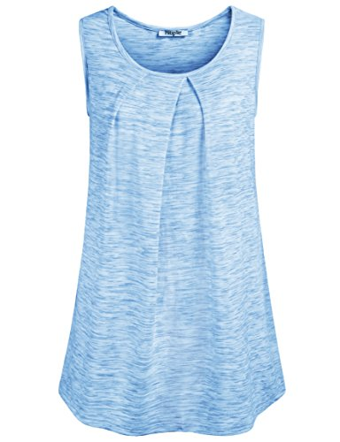 Hibelle Womens Sleeveless Pleated Relaxed