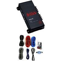 BOSS R1002 200W 2-Channel RIOT Car Audio Power Amplifier Amp + 8 Gauge Amp Kit