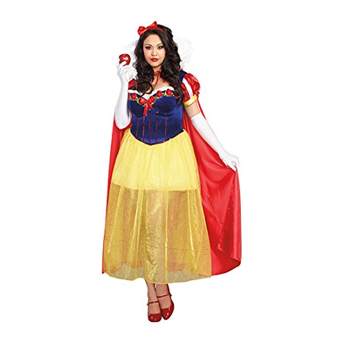 Plus Size Snow White (Dreamgirl Women's Plus-Size Happily Ever After Costume, Multi,)