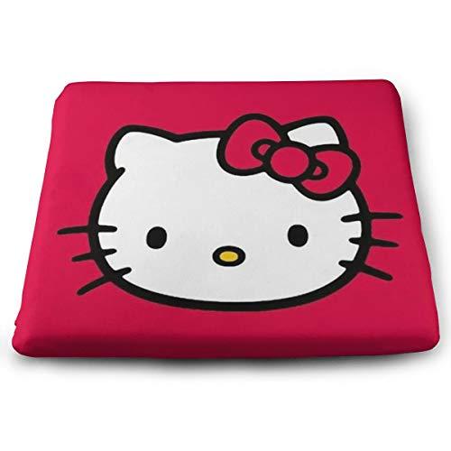 Chair Pads- Non Slip Square Chair Cushion Comfort Memory Foam Red Hello Kitty Thicken Seat Cushion Pillow