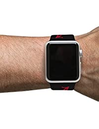 Alabama Crimson   Correa de silicona para Apple Watch, color negro, 42 mm