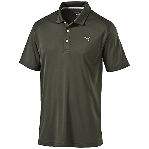 PUMA Golf Men's ESS Pounce Polo Forest Night Polo Shirt MD