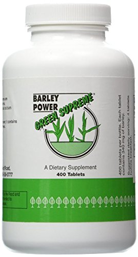 Green Supreme Barley Power 400 Count Tablets by Green Supreme