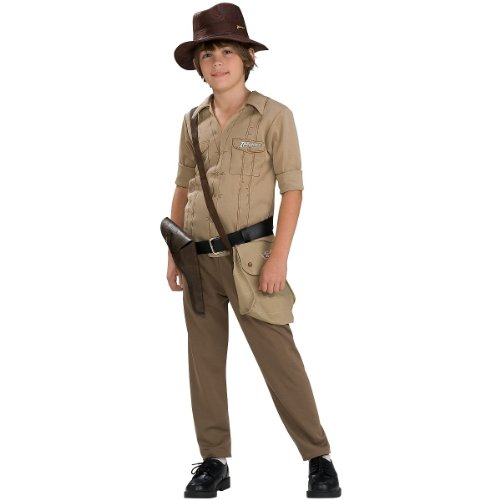 Indiana Jones and the Kingdom of the Crystal Skull Deluxe Muscle Chest Indiana Costume, Children's Medium - Deluxe Kids Indiana Jones Costumes
