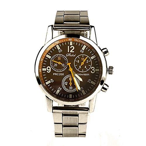 Hiriyt New Men Fashion Round Analog Quartz Wrist Watch Bracelet Bangle Wrist Watches