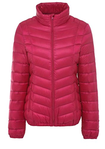 Coat Stand H Jacket amp;E Happiness Packable Slim Red Rose Down Collar Entrance Women's Puffer Oytwear w577xqrPXE