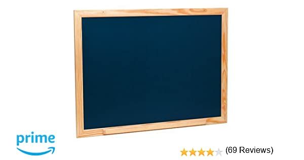 JeuJura 8780 - Pizarra Mural de madera, color negro grande, 88 x ...
