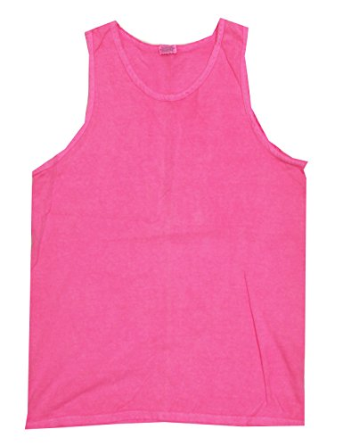 (Colortone Pigment Dyed Tank Top MD Neon Pink,Medium)