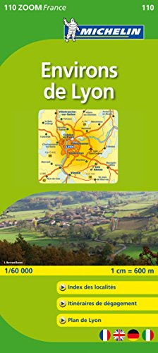 Michelin ZOOM Lyon Environs de Lyon Map 110 (Maps/Zoom (Michelin)) (French Edition)