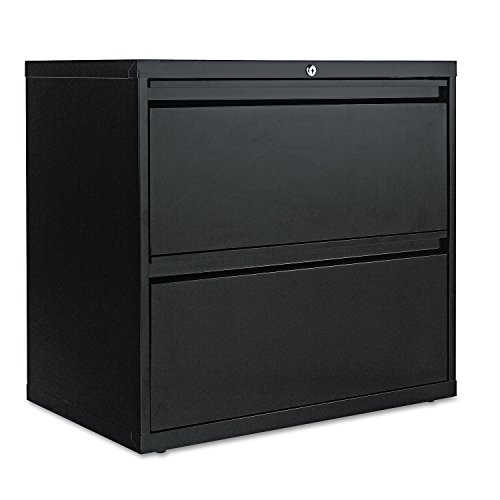 Alera LA523029BL 30 by 19-1/4 by 29-Inch 2-Drawer Lateral File Cabinet, Black