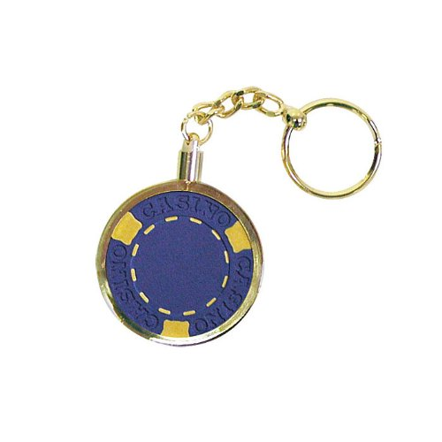 Trademark Poker Key Ring Chip Holder Key Chain Craps Chip