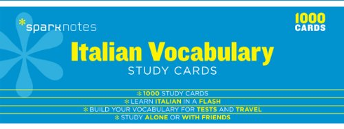 Italian Vocabulary SparkNotes Study Cards