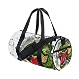 Gym Duffel Bag Watercolor Dinosaur Sports Lightweight Canvas Travel Luggage Bag