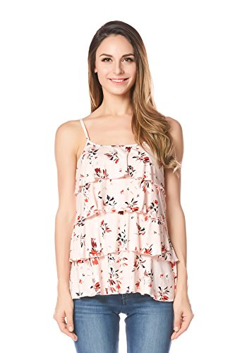 Bearsland Women's Maternity Nursing Tank Top and Cami Shirts,Orange,Medium