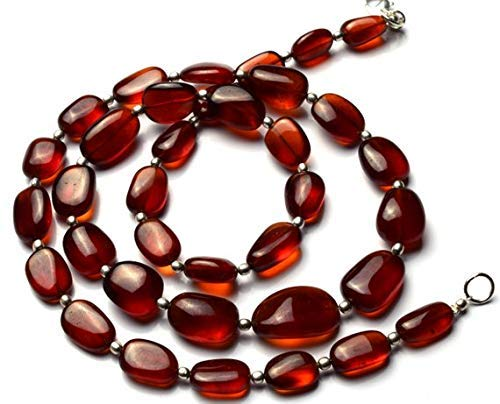 1 Strand Natural Hessonite Garnet Rare Big Size Smooth 7x12-12x18 mm Nugget Beads 22