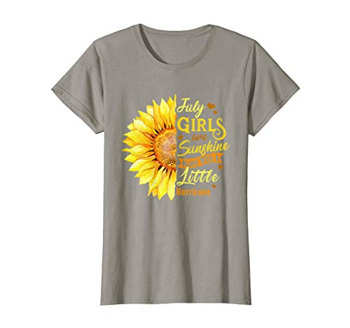 July Girls Birthday Shirt Sunshine Mixed Little Hurricane T-Shirt