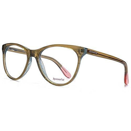 Accessorize Glam Cateye verres en marron ACS010-BRN clear