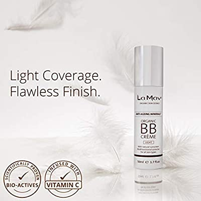 Organic BB Cream - All In One Tinted Moisturizer, Foundation and Natural Sunscreen - For Fresh and Flawless Skin in an Instant - Light - Best For Very Fair or Light-Colored Skin Tones